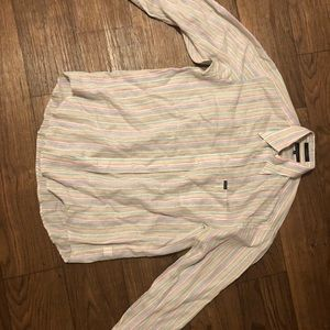 Faconnable medium shirt button down multi color